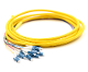 LC Jacketed 12Pk SM Yellow Jacketed Fiber Pigtails, 3 Meters