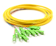 SC/APC Jacketed 12Pk SM Yellow Jacketed Fiber Pigtails, 3 Meters