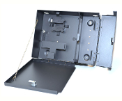 4 LGX Wall Mount Patch Panel with 2 Lockable Compartments