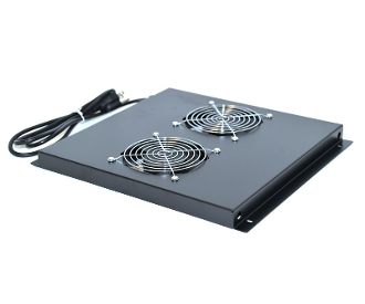 Cooling Fan Assembly for Network Racks - 2 Fans, 4 Mounting Hole