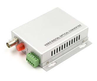 1 Channel Video Fiber Optic Digital Converter with Data