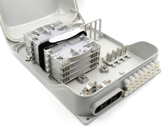 96 Fiber Wall Mount Termination Box with 3 Port a 4 Trays