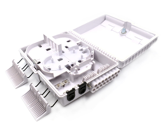 16 Fiber Wall Mount Termination Box with 2 Ports - D