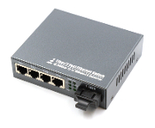 4 Port Fiber Switch 10/100 RJ45 to 1 Fiber Port, Multi-mode 2km