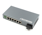 4 Port Fiber Switch 10/100 RJ45 to 1 Fiber Port, Singlemode 25km